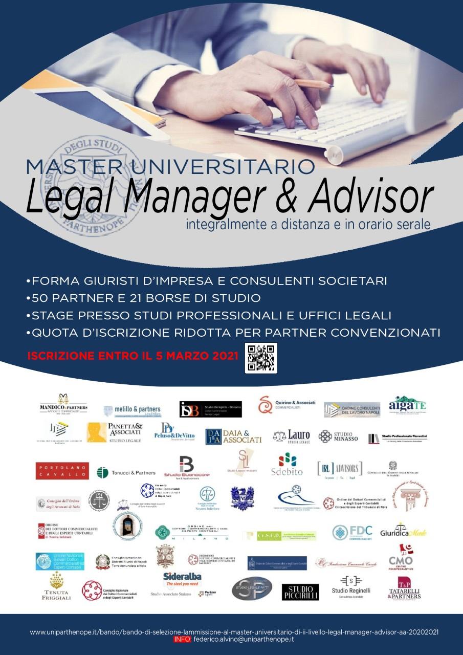 Master Universitario Legal Manager & Advisor, Università degli Studi di Napoli Parthenope